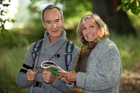 bosk: senior couple going for a walk