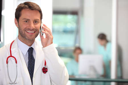 portrait of a doctor on the phone Stock Photo - 11132249