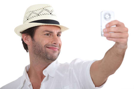 Man taking photo of himself photo