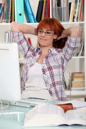 Portrait of a studious young woman Stock Photo - 11136205