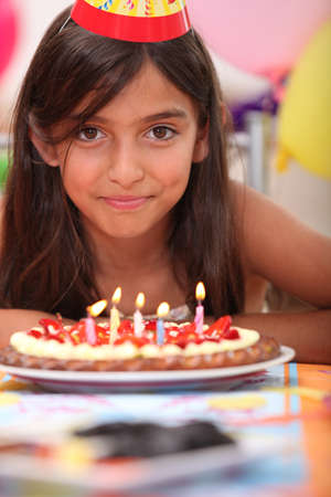 15: Portrait of a girl on her birthday