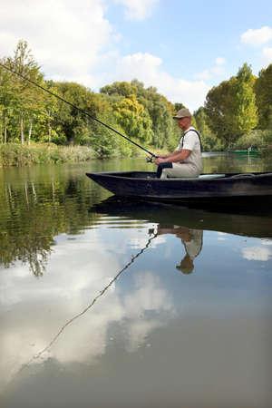 sinkers: man fishing Stock Photo