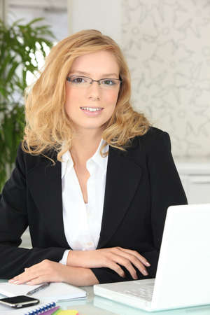 young businesswoman working in her office Stock Photo - 11135731