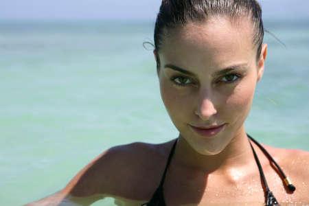 Sexy woman swimming Stock Photo - 11136102