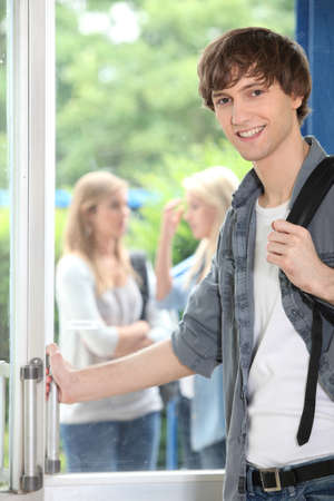 Male student on campus Stock Photo - 11135798