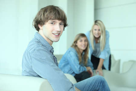 16 19 years: Smiling young people Stock Photo