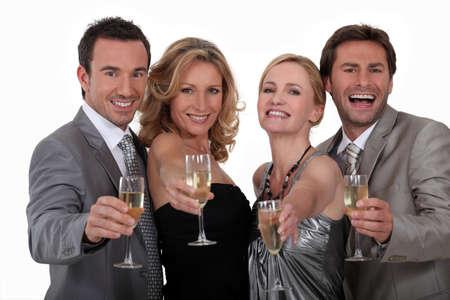 evening class: Cheers! Stock Photo