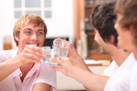 Friends drinking photo
