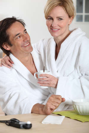 Couple and a cup of tea Stock Photo - 11135808