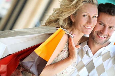 centro comercial: Amar a dos tiendas Foto de archivo