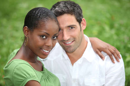 interracial family: interracial couple