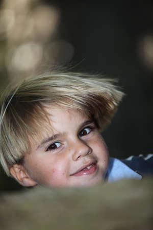 Blond boy photo