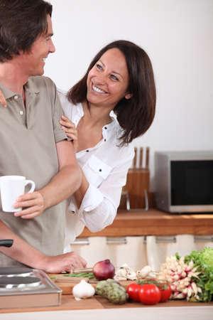 Husband cooking Stock Photo - 11135345