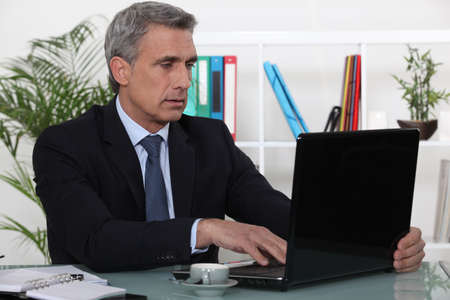 office use: businessman working in his office