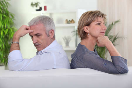 argues: Couple having a disagreement