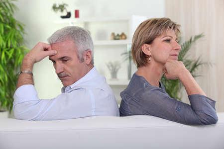 Couple having a disagreement photo