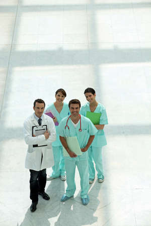 medical foursome  posing outdoors Stock Photo - 11135105