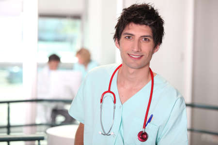 portrait of a male nurse photo