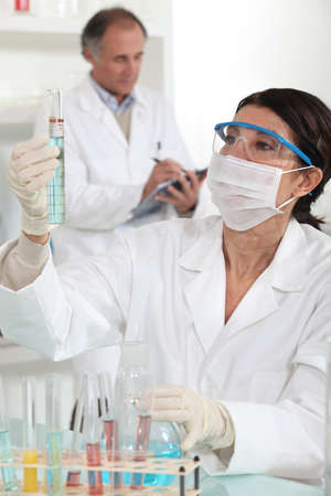 Woman working in a laboratory Stock Photo - 11135375