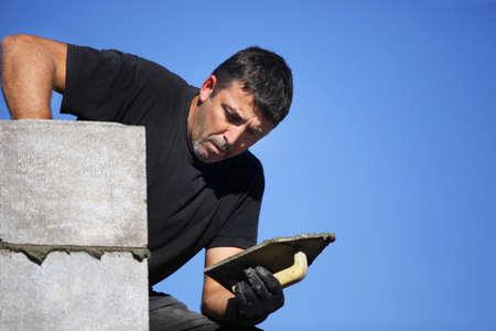 Mason building wall Stock Photo - 11135509
