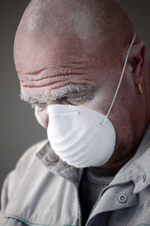 Man wearing a face mask photo
