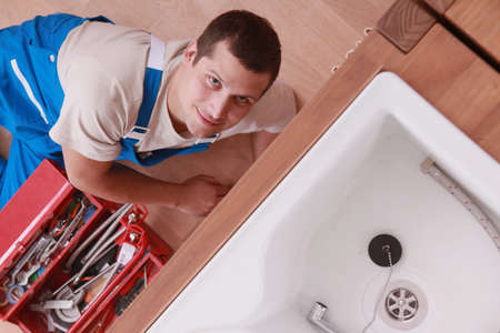 portrait of a plumber photo