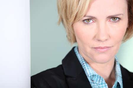 Closeup of a serious businesswoman photo