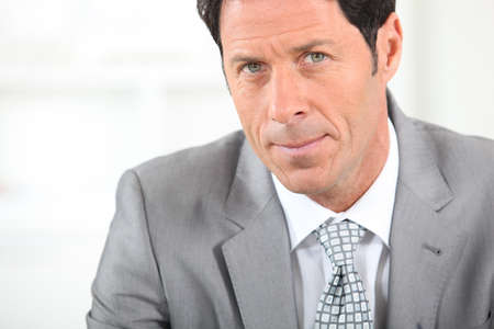 45 50 years: Serious male executive Stock Photo