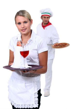 oven tray: Hospitality workers