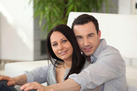 Couple cuddling each other Stock Photo - 11306769