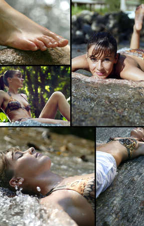 Relaxation and wellness collage photo