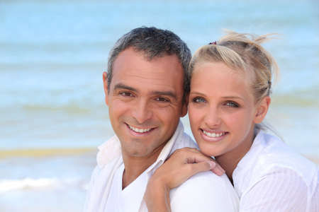 Couple by the sea Stock Photo - 11306749