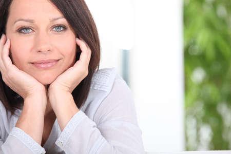 daydreaming: mature woman