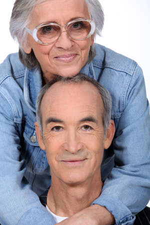 Elderly couple hugging Stock Photo - 11306727