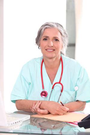 Older nurse photo