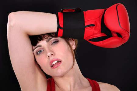 sudoracion: Un boxeador cansado