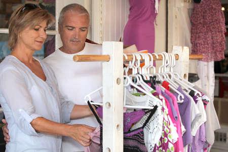 Couple shopping for women photo