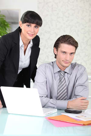 vindictive: Colleagues working together Stock Photo