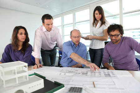 group of architects working photo