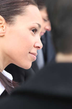 close-up of a business woman face photo