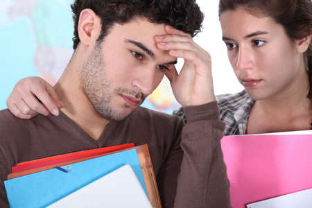 Girl consoling fellow student Stock Photo - 11389435