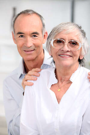 portrait of an older couple Stock Photo - 11382857