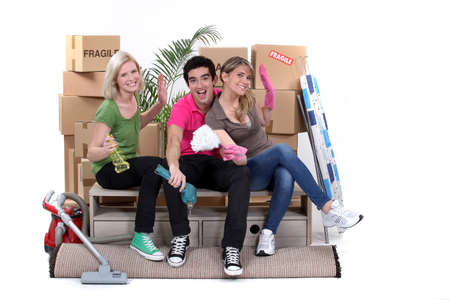 Young people moving home photo