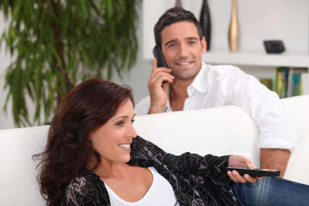affinity: couple in living room