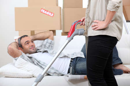 Couple moving home Stock Photo - 11382646