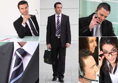 A collage of business professionals photo