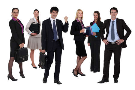 Variety of business people Stock Photo - 11382374