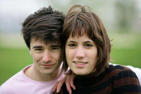 Closeup of a young couple Stock Photo - 11382690