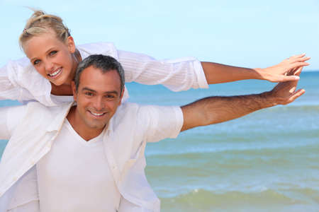Couple by the sea Stock Photo - 11382903