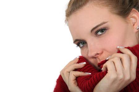 bottomless: Woman wearing jumper
